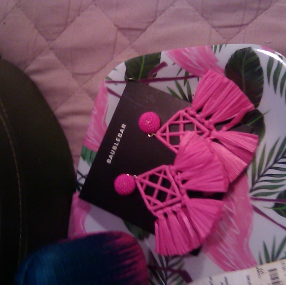 BaubleBar Jewelry - Baublebar Pink flamingo straw earrings